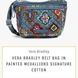 Vera Bradley painted Medallion belt bag